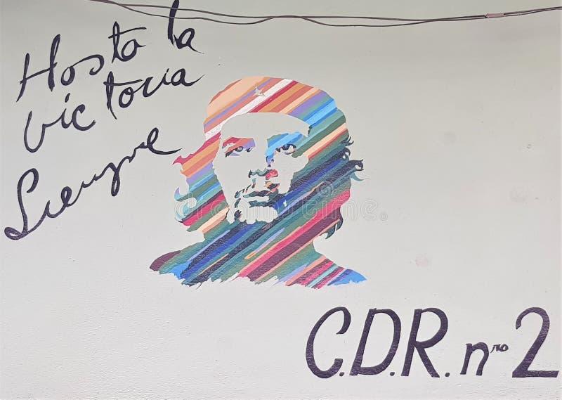 Street Life Cuba Habana Graffiti stock image