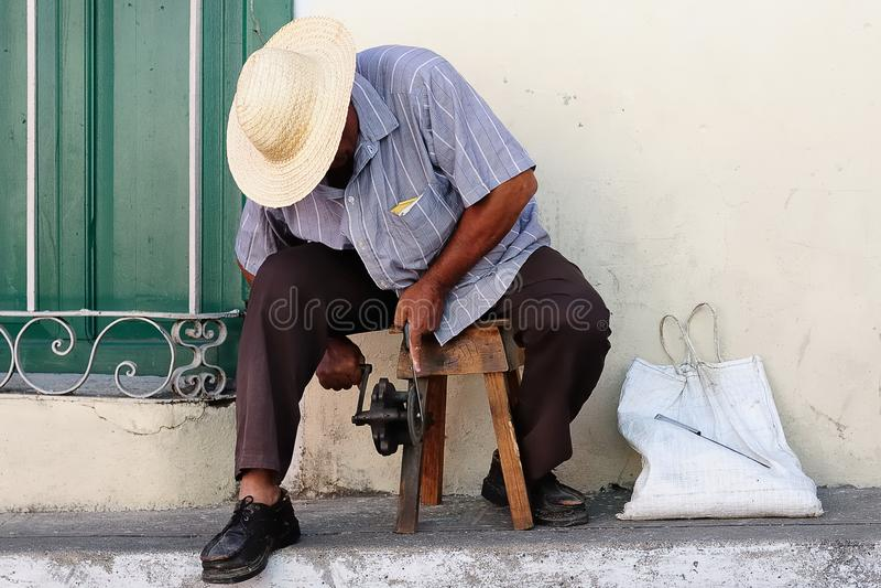 The street life on Cuba stock photography