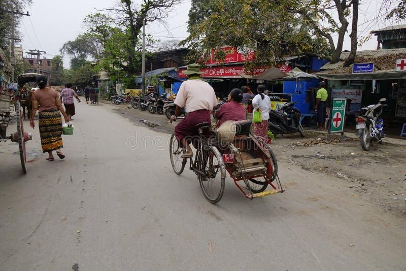 Street life in Mandalay, Myanmar royalty free stock image
