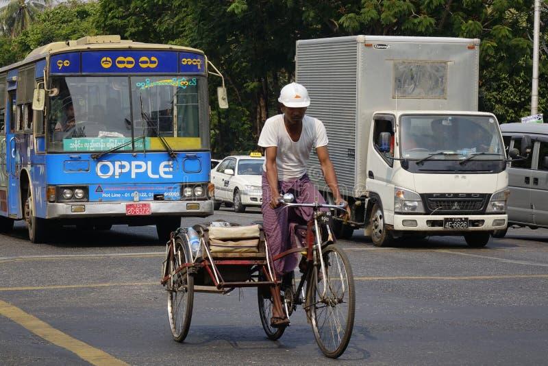 Street life in Mandalay, Myanmar stock images