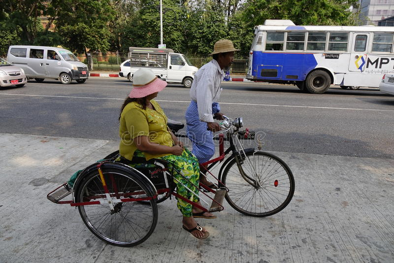 Street life in Mandalay, Myanmar royalty free stock images