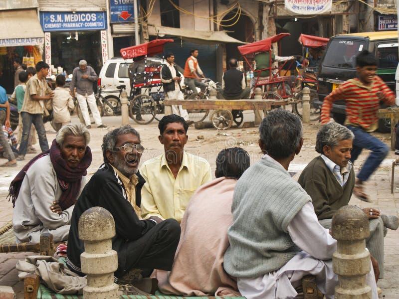 Street life in New Delhi, Pahar ganj royalty free stock photo