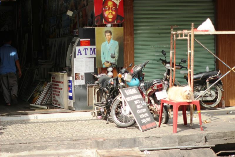 Street life style in Vietnam royalty free stock image