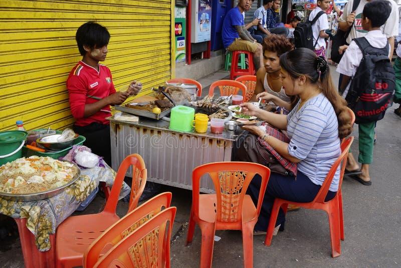 Street life in Yangon royalty free stock image