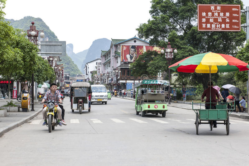 Street life in Yangshuo, China royalty free stock photography
