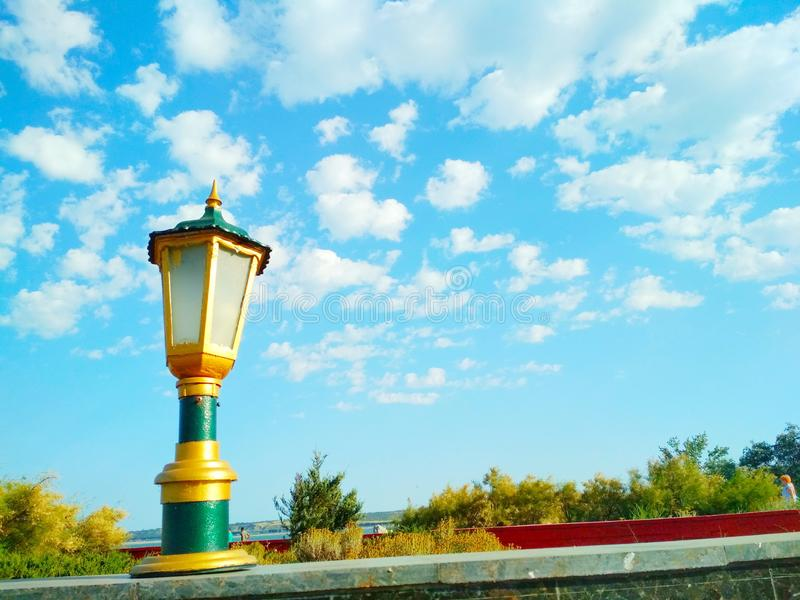 Street light, architectural decision royalty free stock photography