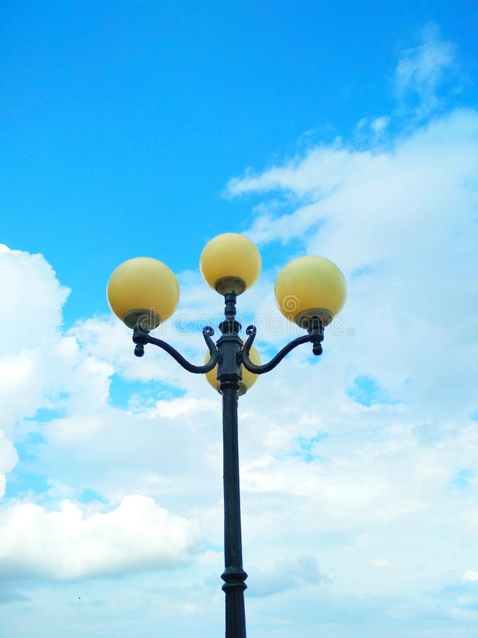 Street light, architectural decision stock image
