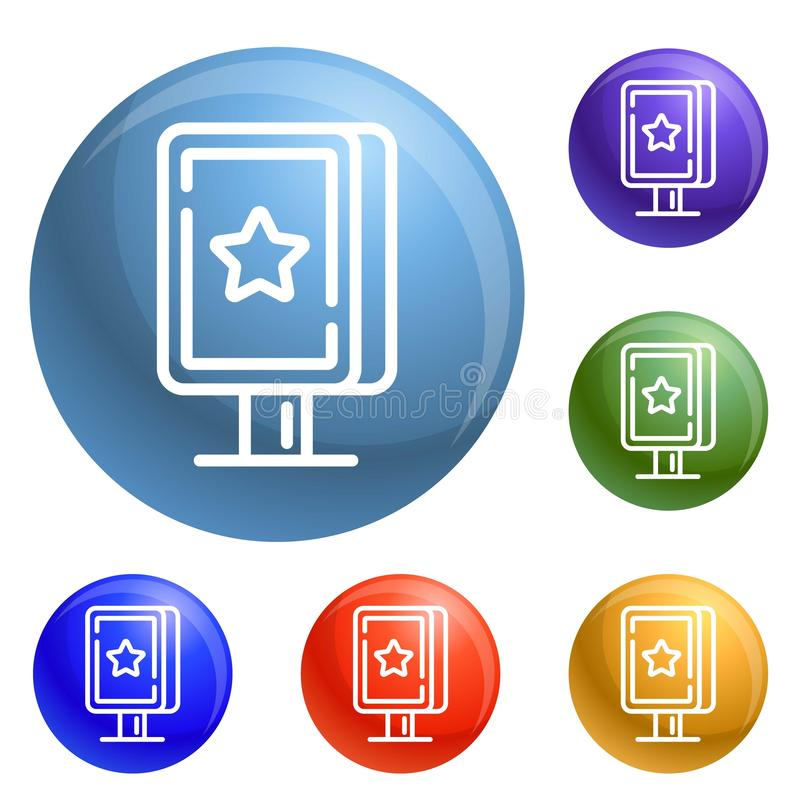 Street light box icons set vector vector illustration