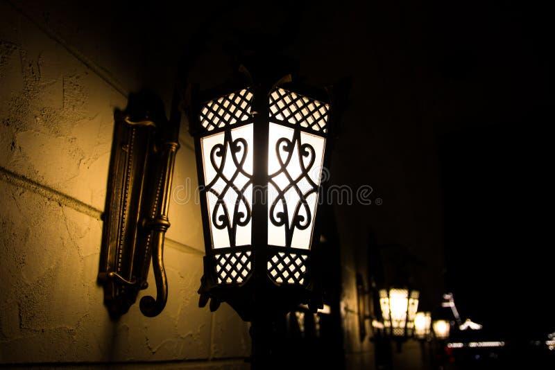 Light bulb on wall royalty free stock photo