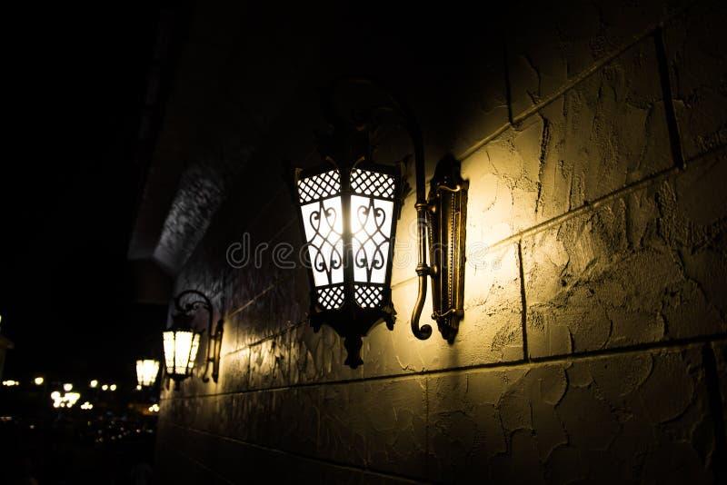 Light bulb on wall royalty free stock image