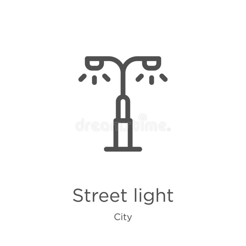 street light icon vector from city collection. Thin line street light outline icon vector illustration. Outline, thin line street stock illustration