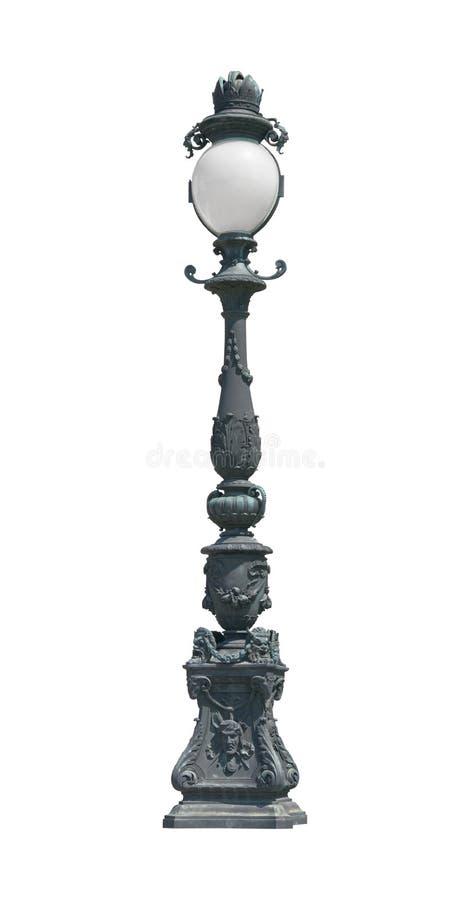 Street light lamp post cutout royalty free stock photos