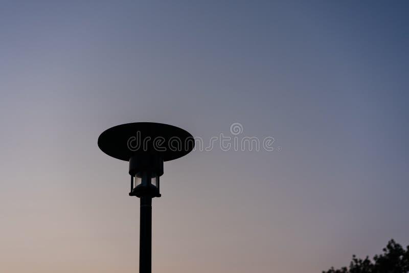 Street light night sky blue hour sunset view royalty free stock photo