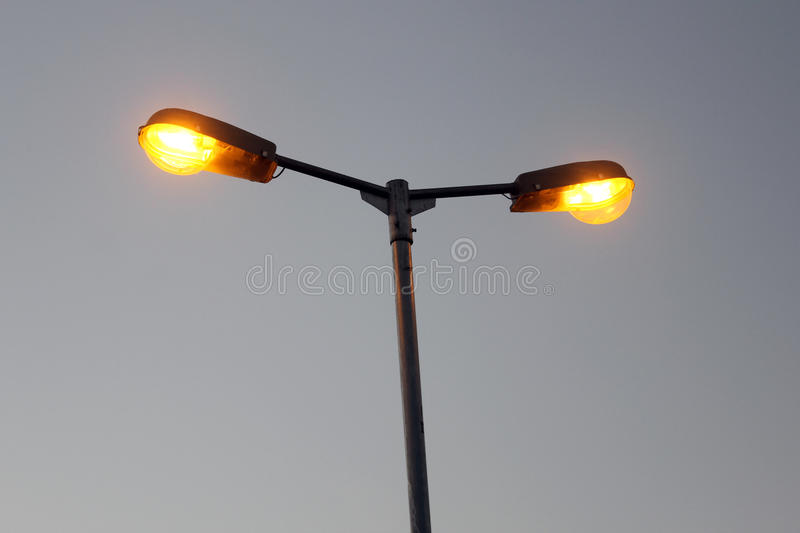 Street light pole royalty free stock images