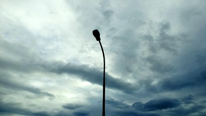 Street Light Silhouette View royalty free stock images