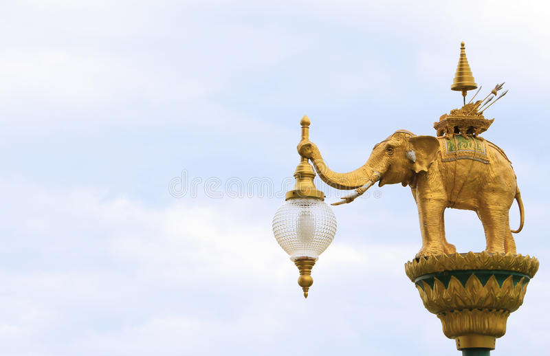 Street lighting art, lamp hanger, Thai abstract art of angel. Street lighting art, lamp hanger Thai abstract art of angel royalty free stock photography