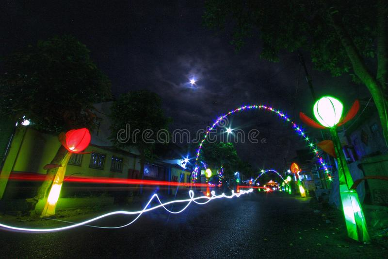 street lighting stock image