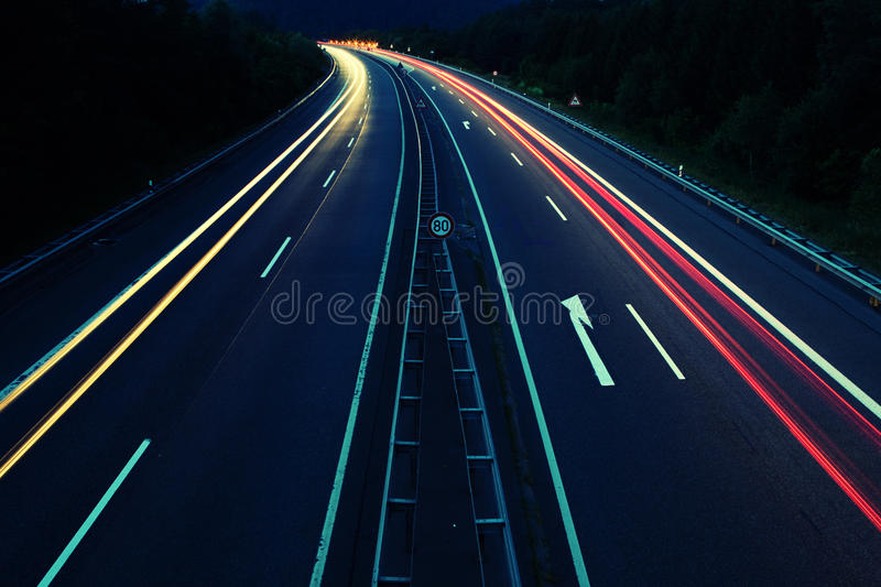 Download Street lights stock photo. Image of black, freeway, movement - 10189322