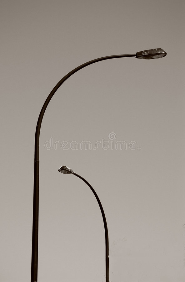 Download Street Lights stock image. Image of thin, curve, shine - 1358895