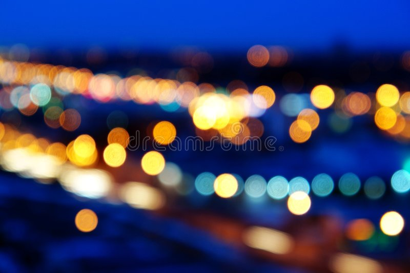 Street lights. Nightshot of street lights and roads in city edmonton, alberta royalty free stock photos