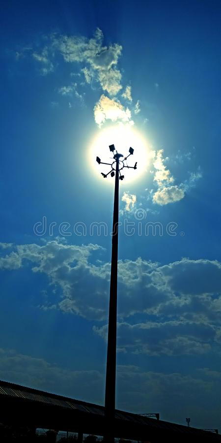 Street lights amazing sunshine view photo royalty free stock photos