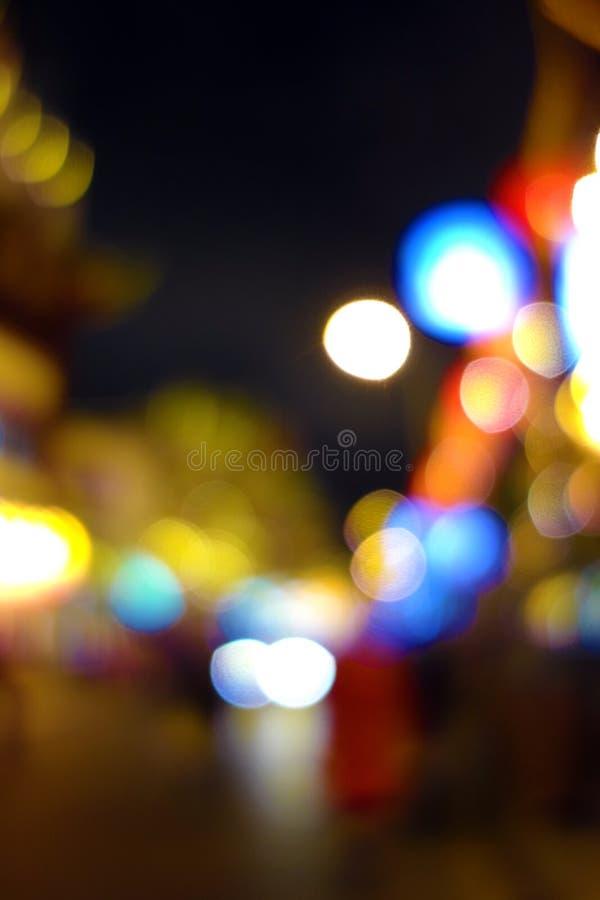 Street Lights Colorful Stock Photo