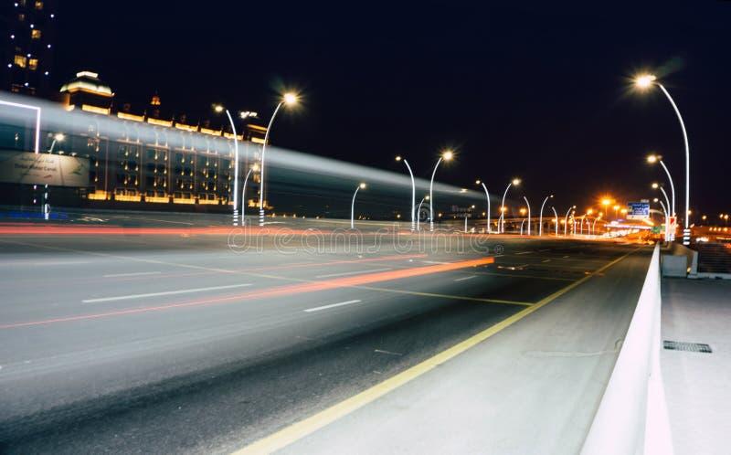 Street Lights during Nighttime stock image