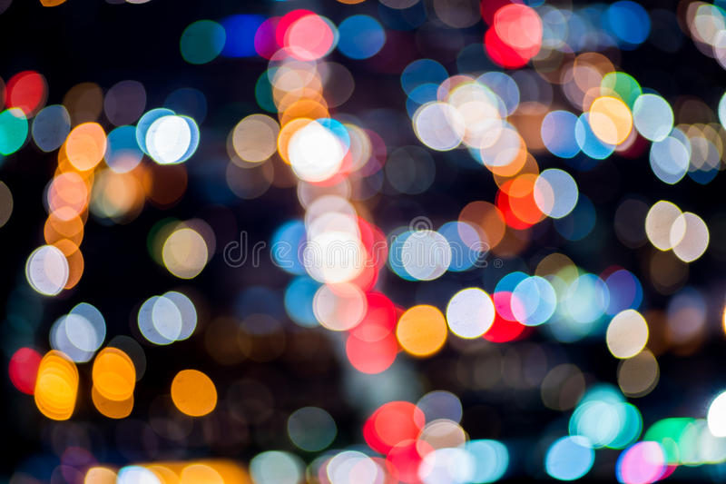 Street Lights Out Of Focus. Great For Your Design royalty free stock photo