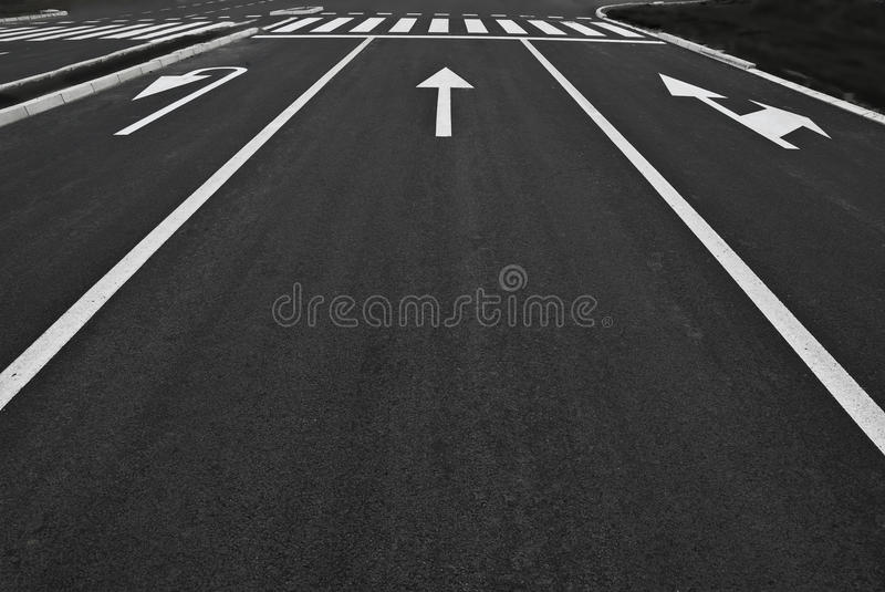 Street lines royalty free stock image