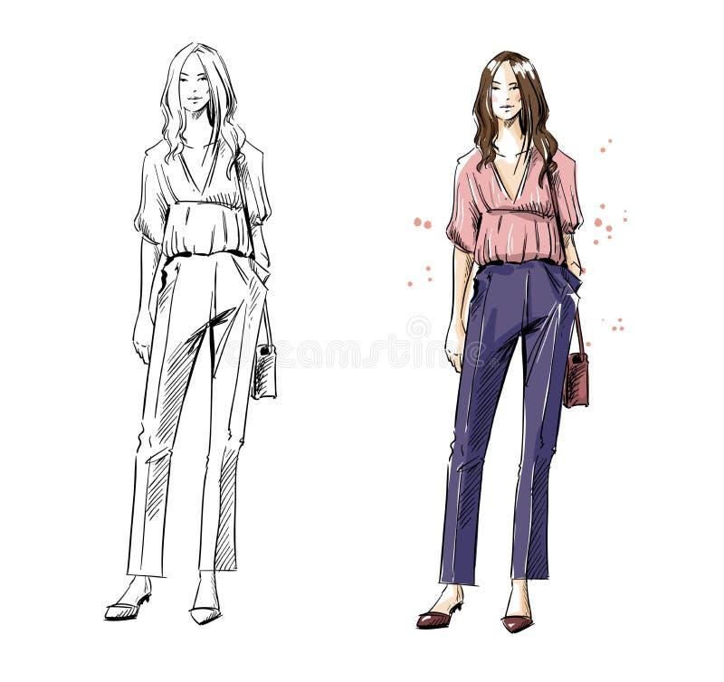 Street look. Casual style, vector fashion illustration. vector illustration