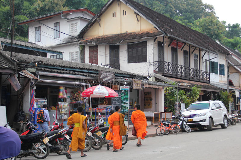 Street in Luang Prabang, Laos royalty free stock images