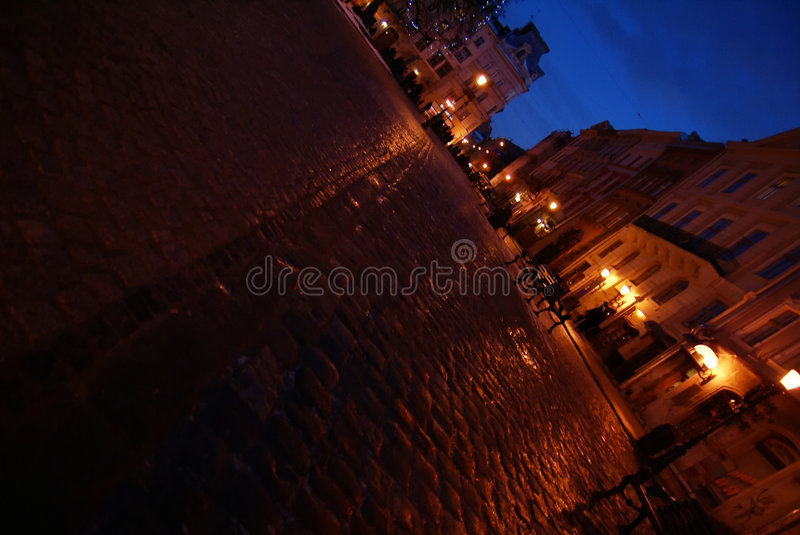 Download Street in Lvov stock image. Image of pavement, light, backdrop - 8442889