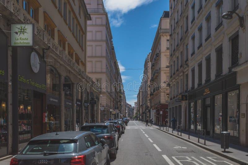 Street in Lyon, France stock photos