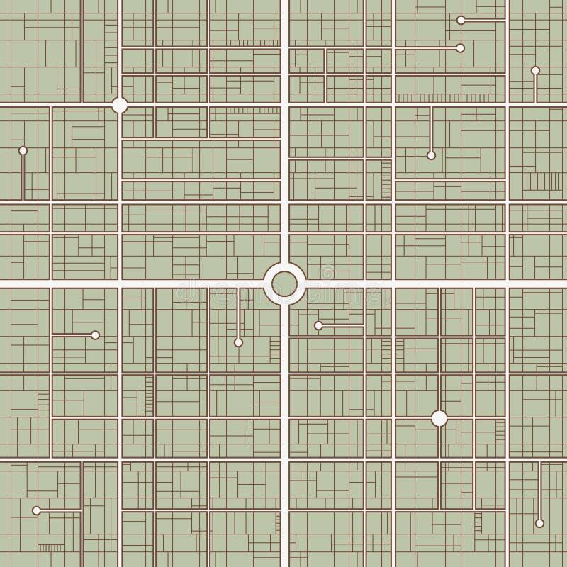 Street map stock illustration