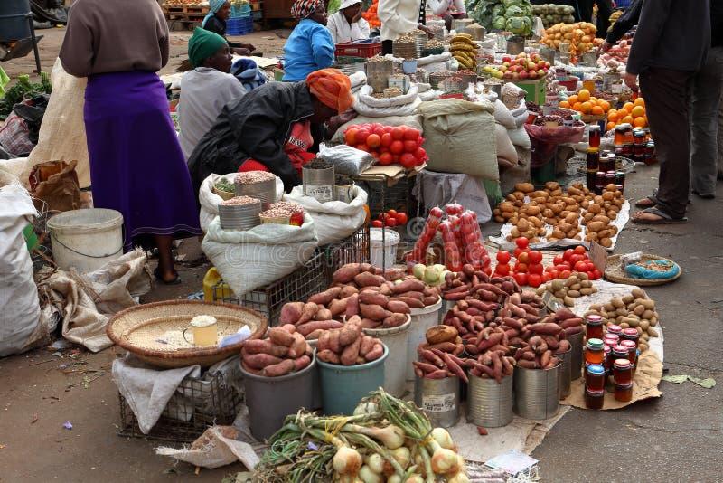 The street market of Bulawayo in Zimbabwe, 16. September 2012 stock images