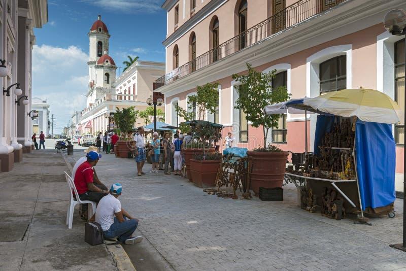 Street market, Cienfuegos royalty free stock images
