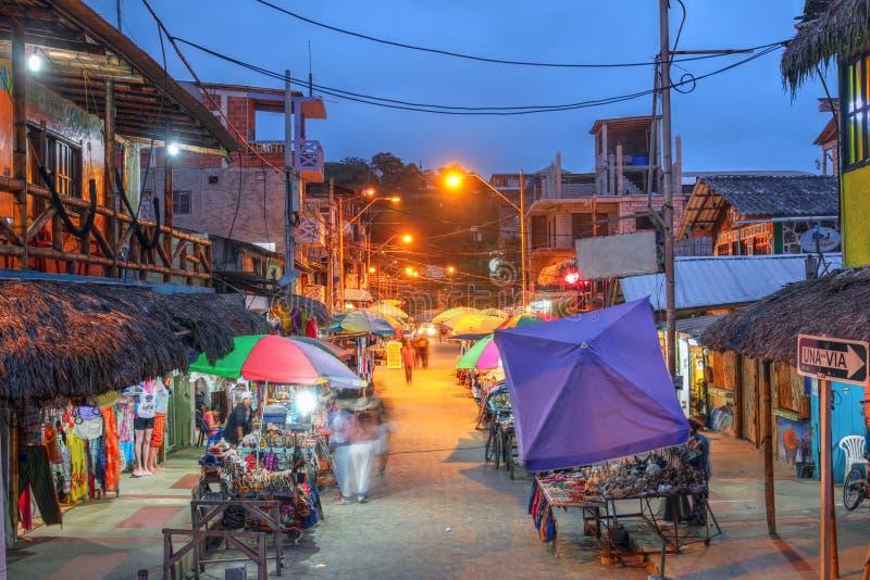 Street market in Montanita, Ecuador royalty free stock photos