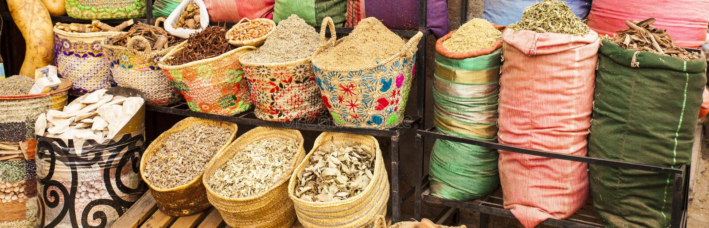 Street market in Morocco royalty free stock photos