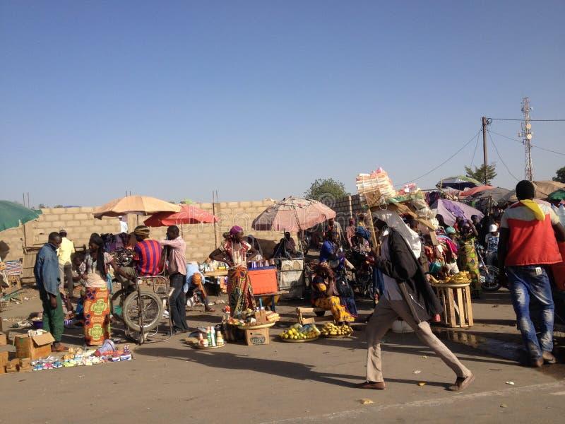 Street market, N'Djamena, Chad stock image