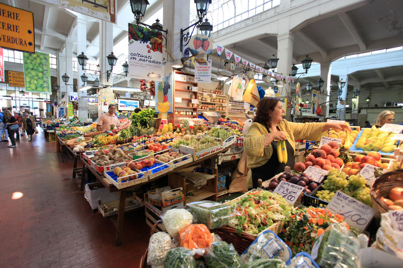 Street market in Rome stock photography