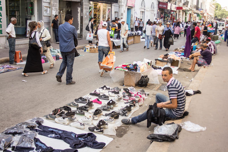Street market in Tunis