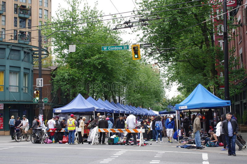 Street market in Vancouver royalty free stock photos