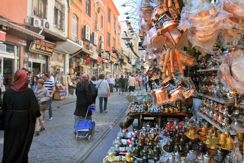 Street markets of Istanbul, Turkey royalty free stock photo