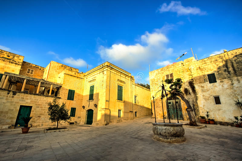 Street in Mdina, Malta stock images