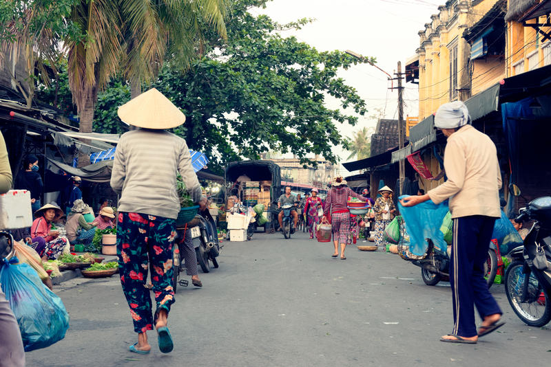 Street in Hoi An Vietnam stock photo