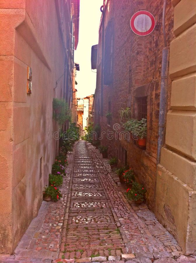 street in Montefalco royalty free stock photography