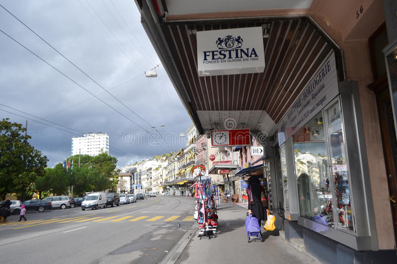 Download Street In Montreux, Switzerland Editorial Photo - Image of vacation, european: 35256561