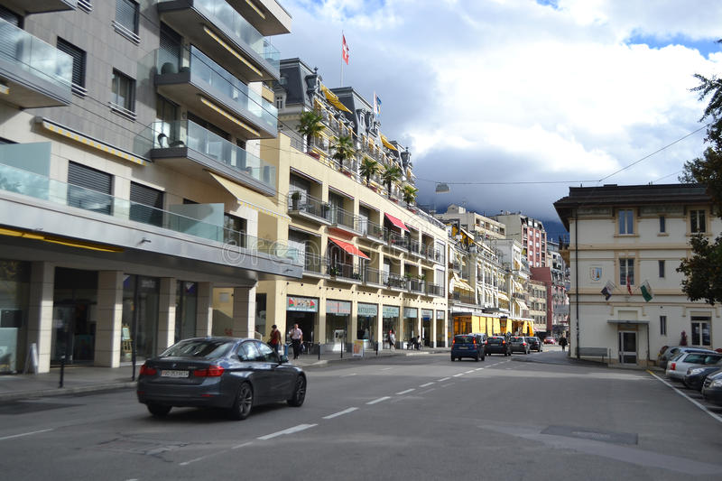 Download Street In Montreux, Switzerland Editorial Image - Image: 35256620
