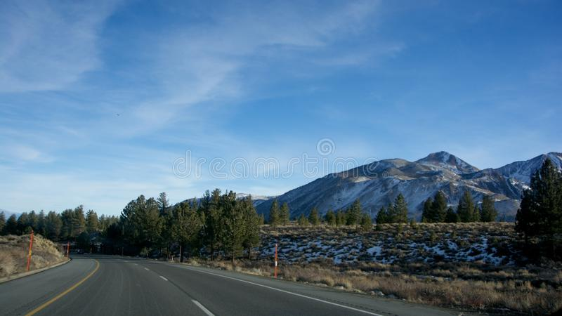 Street and Mountains royalty free stock images