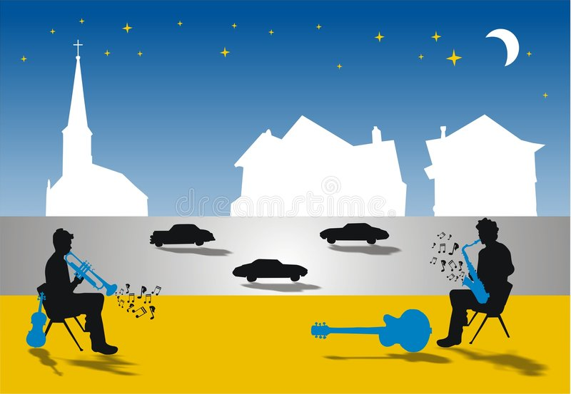 Download Street music stock illustration. Image of mouthpiece, band - 1904900